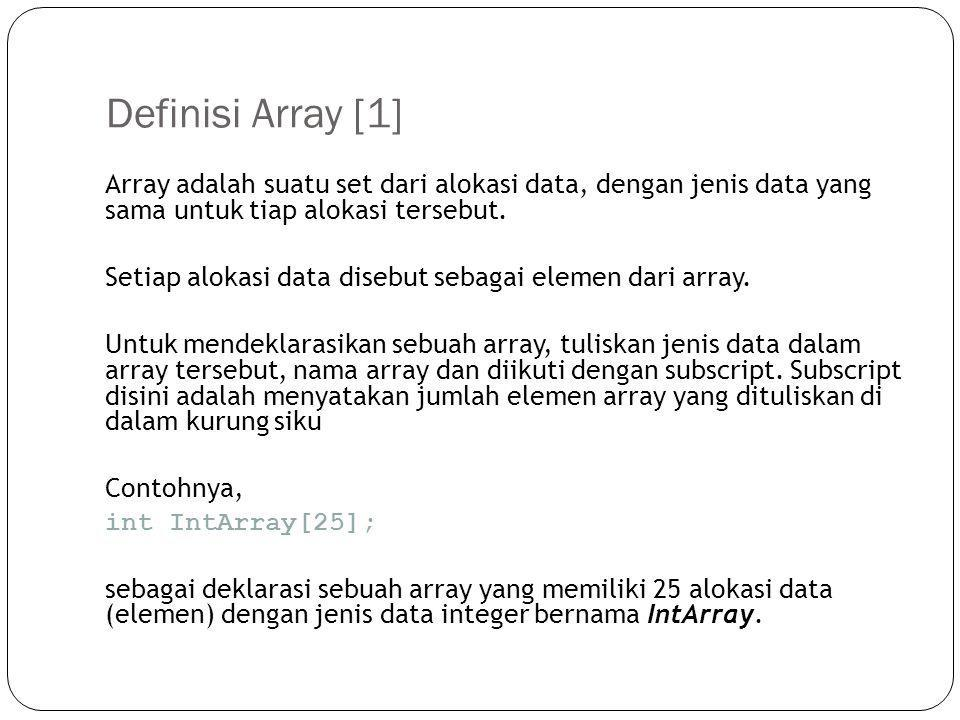 Definisi Array [1]